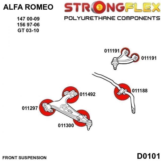 Σινεμπλόκ Πολυουρεθάνης Strongflex εμπρός ζαμφόρ Alfa Romeo - (011188B)