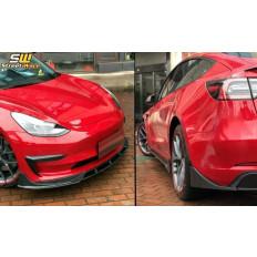 Body kit πρόσθετα Tesla Model 3 (2017 - ) Carbon Look - (CBTSLM3CF)