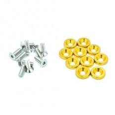 Σετ διακοσμητικές ροδέλες χρυσές και βίδες - (GRP-98755)