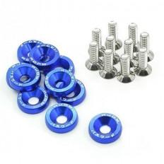 Σετ διακοσμητικές ροδέλες μπλε και βίδες - (GRP-98757)