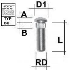 """Μπουζόνι πολύσφηνο SCC 1/2"""" UNF 13,60 mm L: 41 mm - (M1/2RE41BU)"""