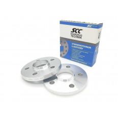 15mm Σετ αποστάτες τροχών με χειλάκι SCC Καρέ: 5x112 Κέντρο μουαγιέ: 66,6 - (12169)