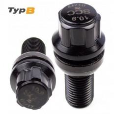 Μπουλόνι Ασφαλείας Type B M12x1,25 / Μήκος: 24mm / Κλειδί: 17 / Πομπέ / Ακτίνα 13 Μαύρο